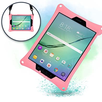Cooper Bounce Strap [Shoulder Strap Rugged Case] for Samsung Galaxy Tab S3 9.7 | Shock Proof Heavy Duty Cover | SM-T820 T825 (Pink)