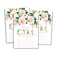 25 Pink It's A Girl Baby Shower Invitations and Envelopes (Large Size 5x7)