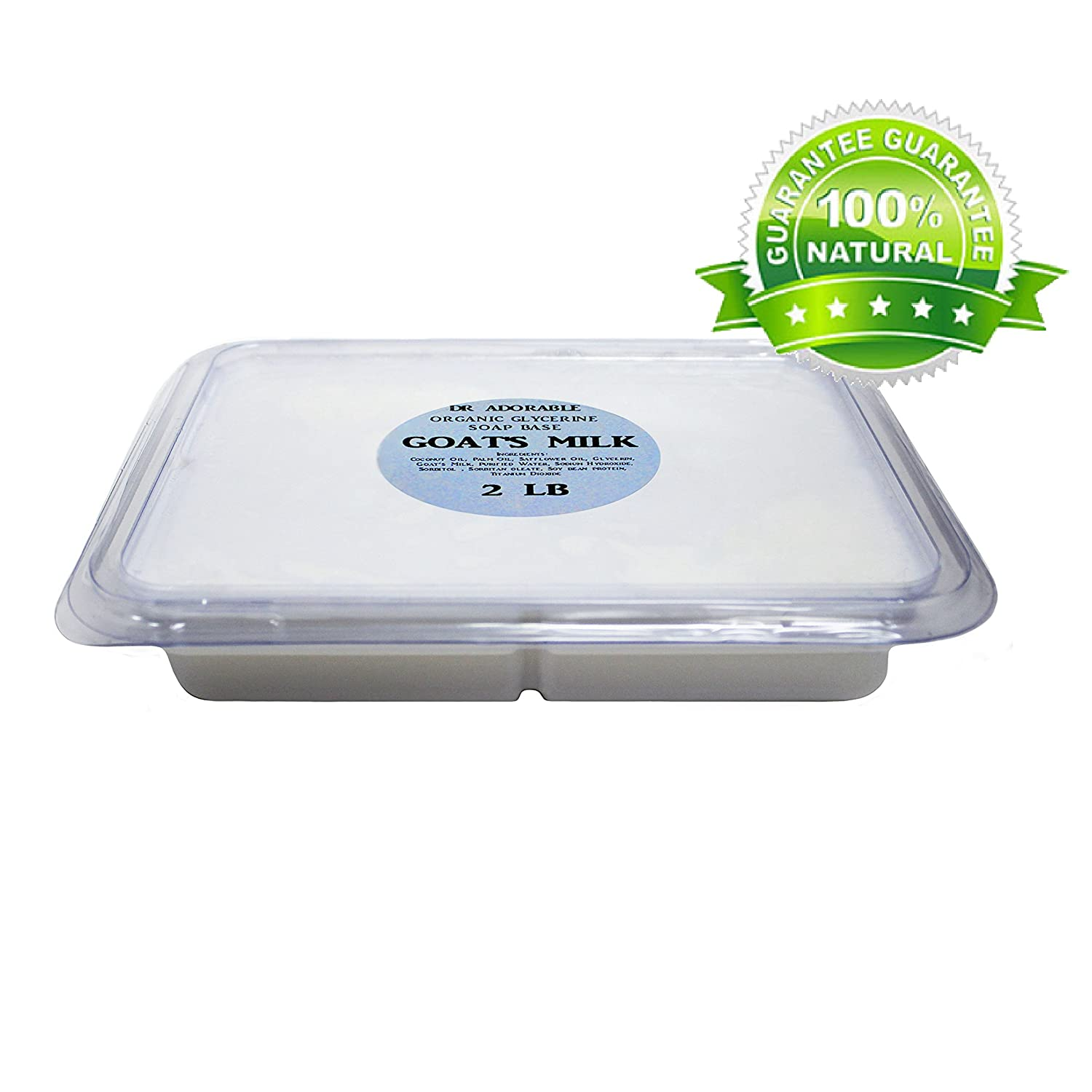 2 Lb Tray GOATS MILK Glycerin Melt & Pour Soap Base Organic