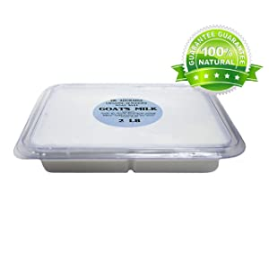 2 Lb Tray GOATS MILK Glycerin Melt & Pour Soap Base Organic