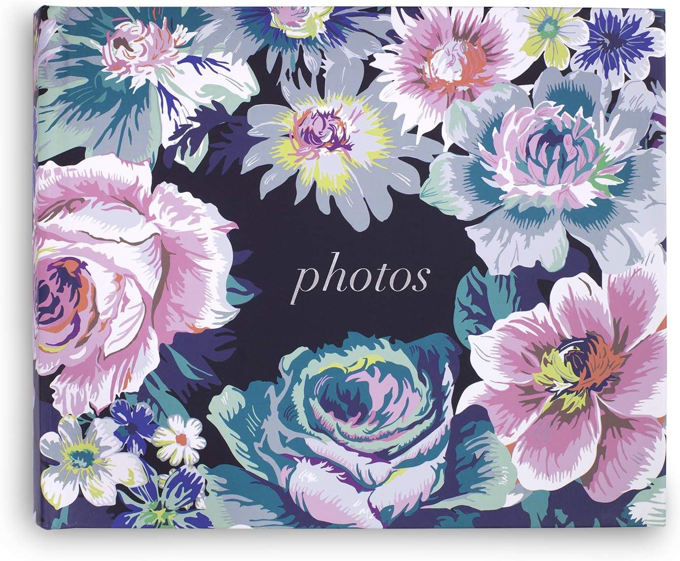 "Vera Bradley Pretty Floral Photo Album, Family Picture Book Holds 70 Photographs Size 4"" x 6"", Garden Grove"