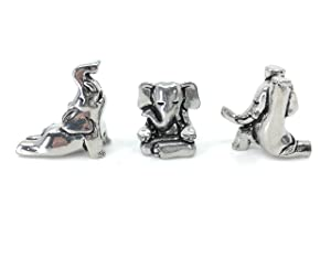 Basic Spirit Yoga Elephant Poses Pewter Figurines Namaste Gift