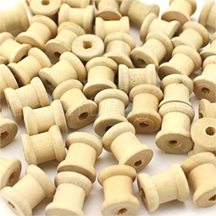 """1 3//4/"""" Wooden Spools Thread Wire Sewing Cord 50 Pack Unfinished Wood"""