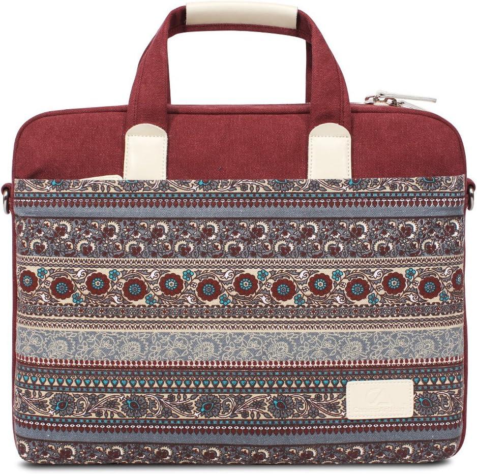 Feisman Bolsa para portátiles de 14 Pulgadas, maletín para 14-14.5 Pulgadas Acer ASUS DELL Lenovo HP Samsung Toshiba -(Rojo)