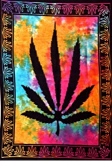 Amazon Com Anjaniya Marijuana Weed Leaf Tapestry Hempest Ganja