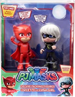 PJ MASKS Deluxe Talking Figures Owlette vs Luna Girl