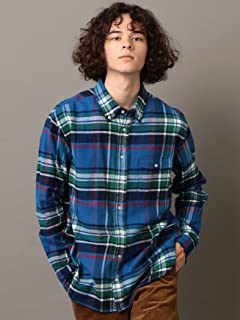 Flannel Buttondown Shirt 121-13-0082: Blue