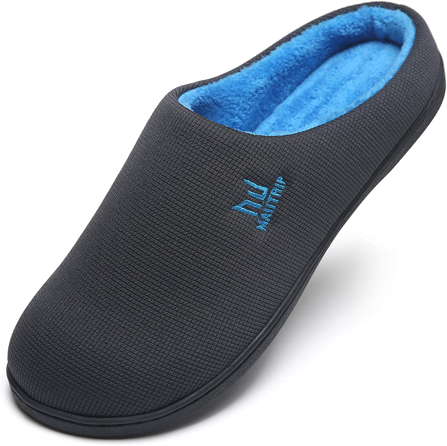 MAIITRIP Men's Cozy Memory Foam House Slippers Non Slip (Size:7-15)