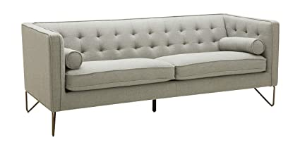 Amazon.com: Rivet Brooke Contemporary Modern Tufted Sofa Couch, 82\
