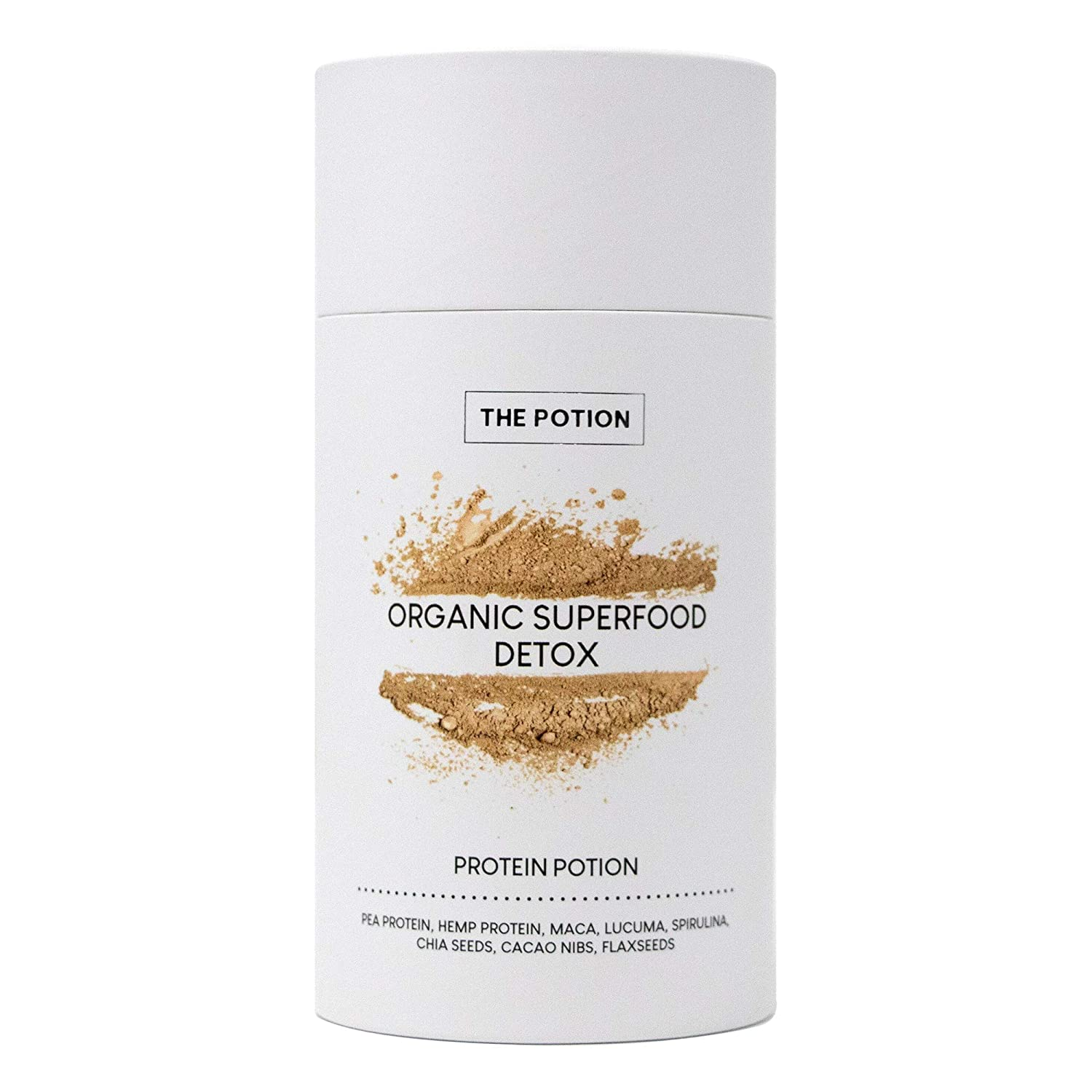 The Potion Protein Detox Superfood Powder Organic Meal Replacement, Natural Pre Post Workout Powder, Hemp, Spirulina, Maca, Pea, Chia Seeds, Amino Acids Boosts Energy, Immunity 30 Servings