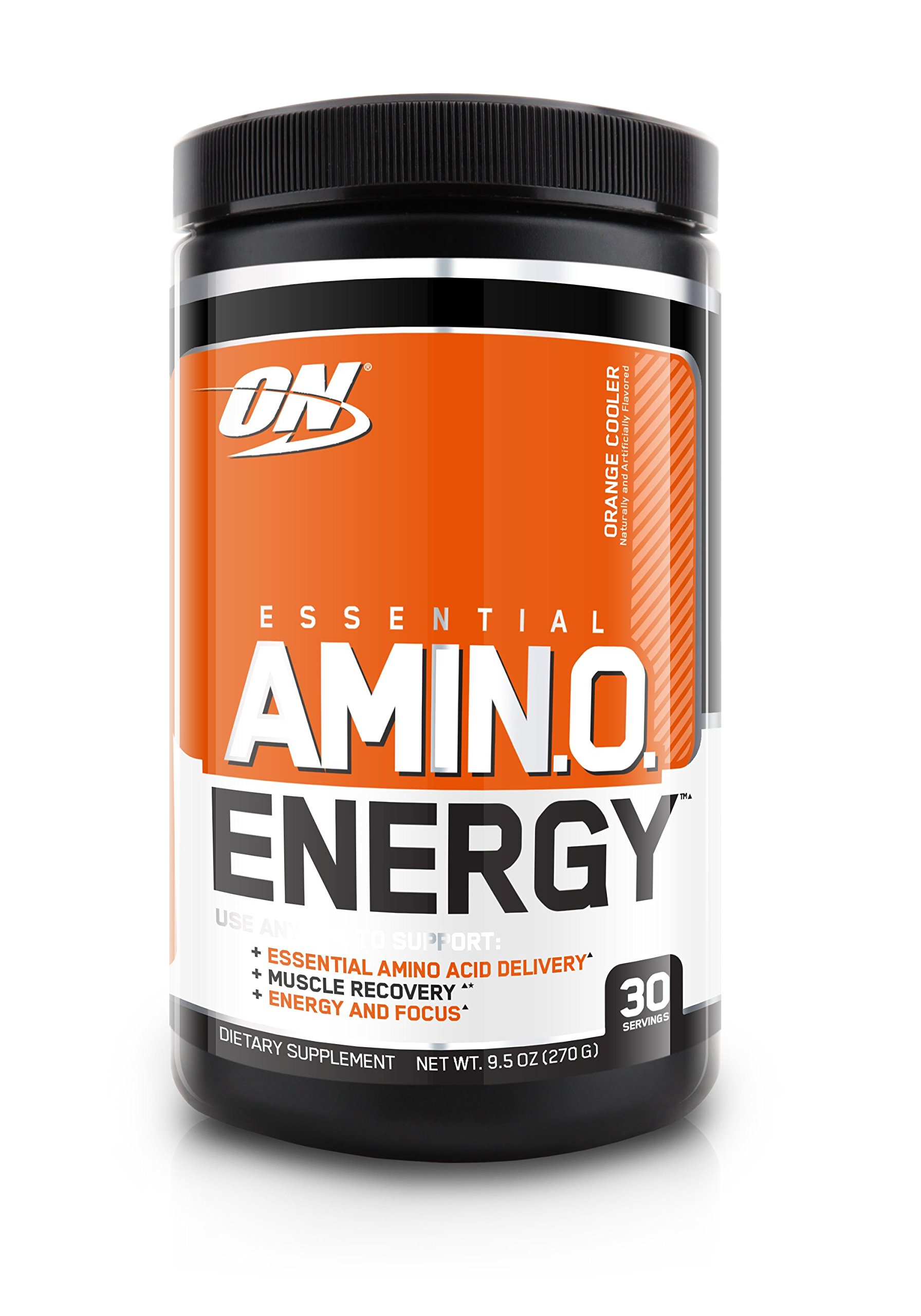 Optimum Nutrition Amino Energy, Orange Cooler, Preworkout and Essential Amino Acids with Green Tea and Green Coffee Extract, 30 Servings