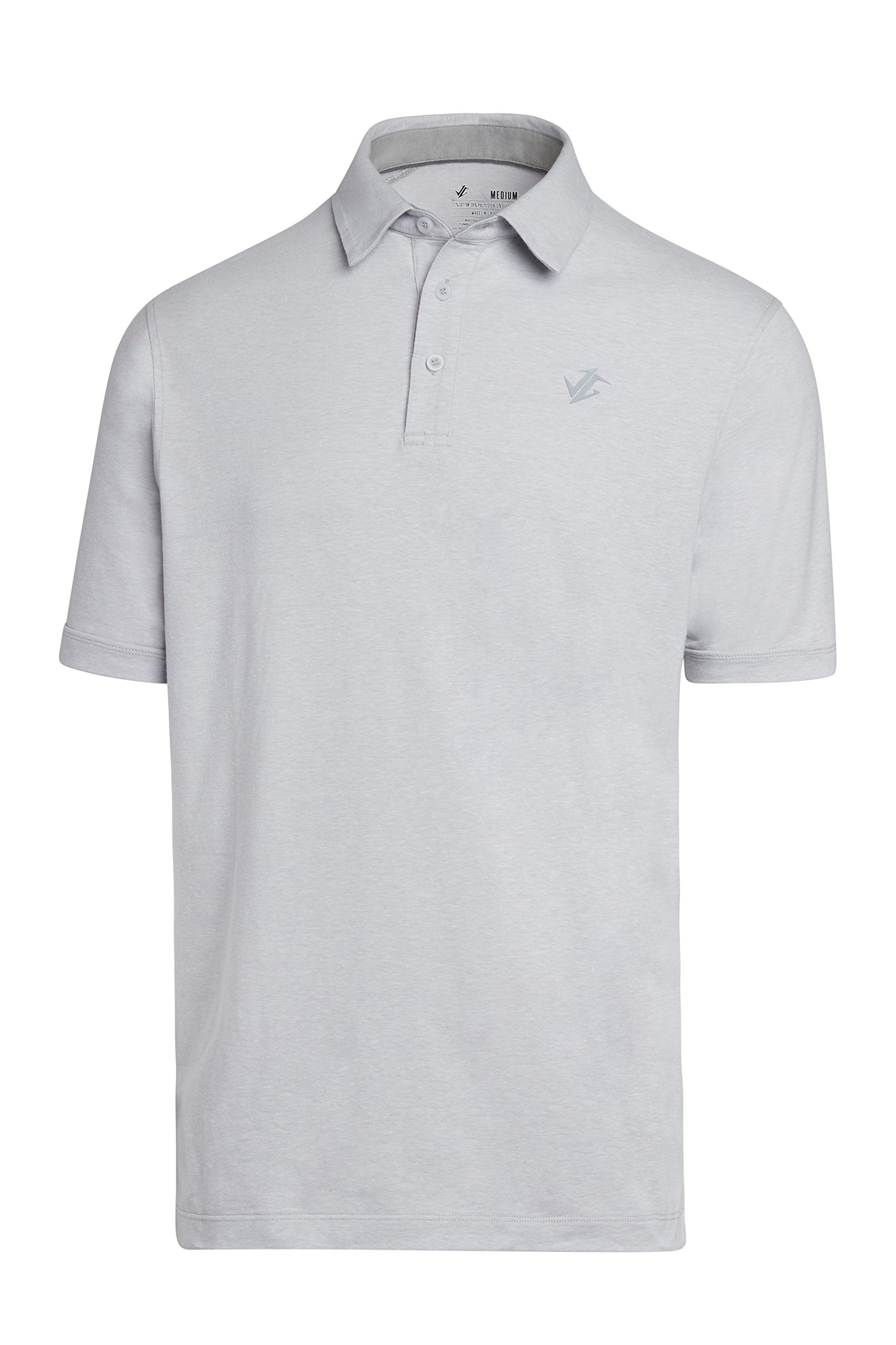 Jolt Gear Golf Shirts for Men - Dry Fit Cotton Polo Shirt - Includes 20 Golfing Tees