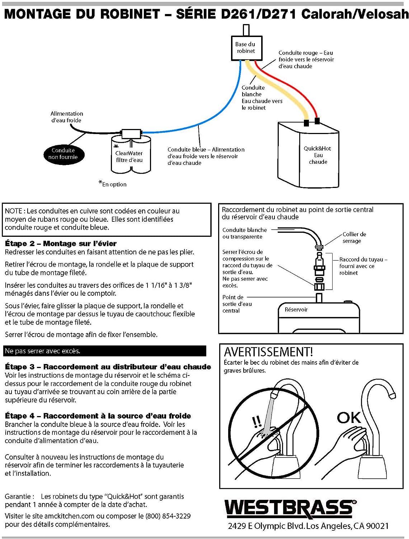 Westbrass D271H-12 Instant Hot Water Dispenser