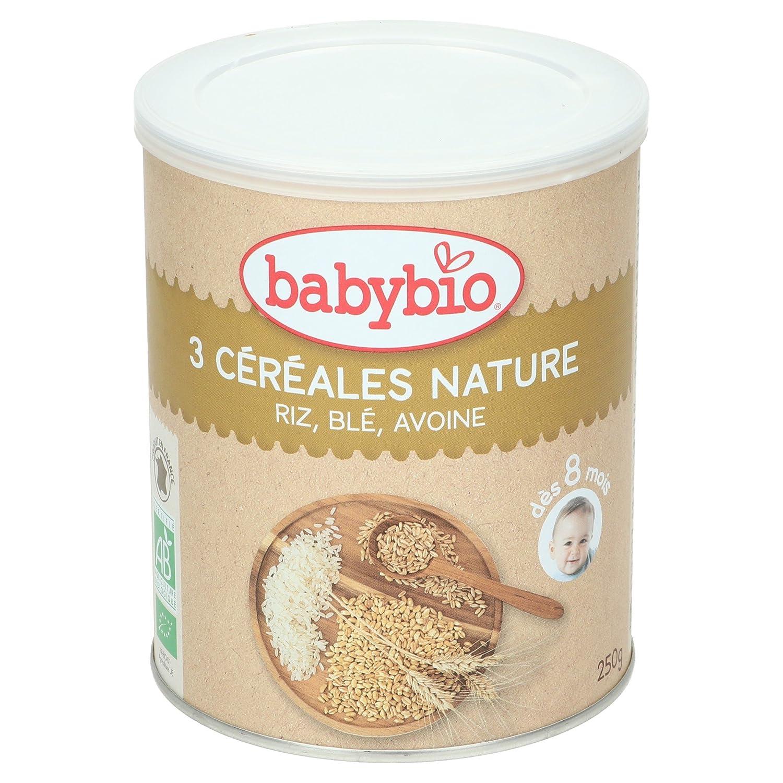 Babybio 3 Céréales Nature Riz Blé Avoine 8+ Mois 250 g 50015 alimentation bébé diversification