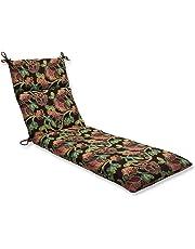 Pillow Perfect Chaise Lounge Cushion with Sunbrella Vagabond Paradise Fabric