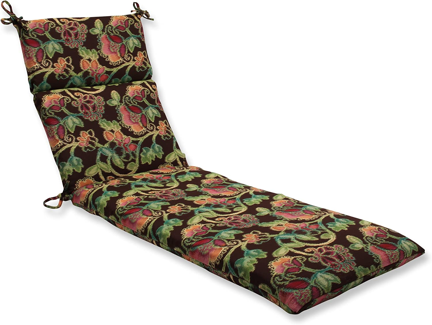 Pillow Perfect Indoor Outdoor Chaise Lounge Cushion with Sunbrella Vagabond Paradise Fabric, 72.5 in. L X 21 in. W X 3 in. D