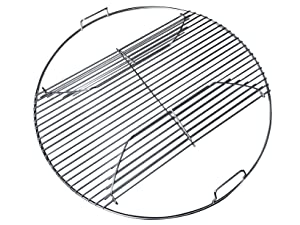 """22 Inch 201 Stainless Steel Hinged Grilling / Cooking Replacement 22"""" grill grate - For use in 22"""" Weber Charcoal Grills - Kettle Charcoal BBQ Grilling Accessories"""