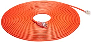 AmazonBasics 12/3 Heavy Duty SJTW Lighted Extension Cord | Orange, 75-Foot
