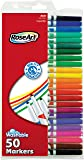 RoseArt SuperTip Washable Markers 50-Count Assorted Colors Packaging May Vary (DFB70)