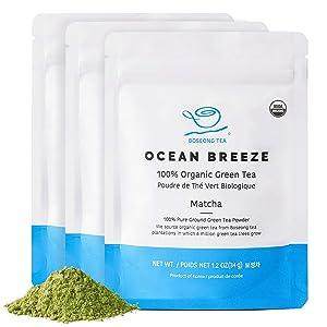 Organic Matcha Green Tea Powder [3.6 oz 3-Pack Bundle] Culinary Grade Korean Tea, USDA & Global Food Safety Initiative Certified, Hand-Picked Authentic South Korean Food Vegan Non-GMO Farm Direct
