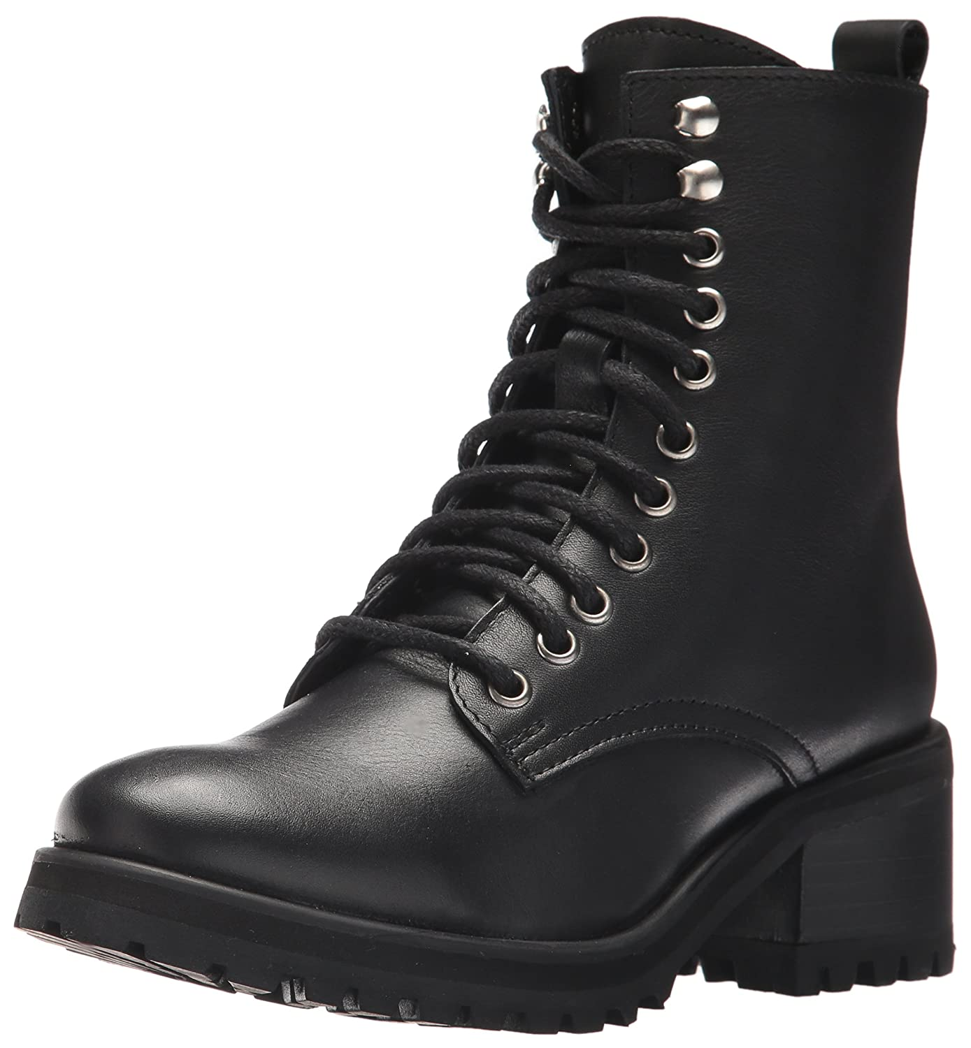 Steve Madden Women's Geneva Combat Boot B074PJGQ7W 11 B(M) US|Black Leather