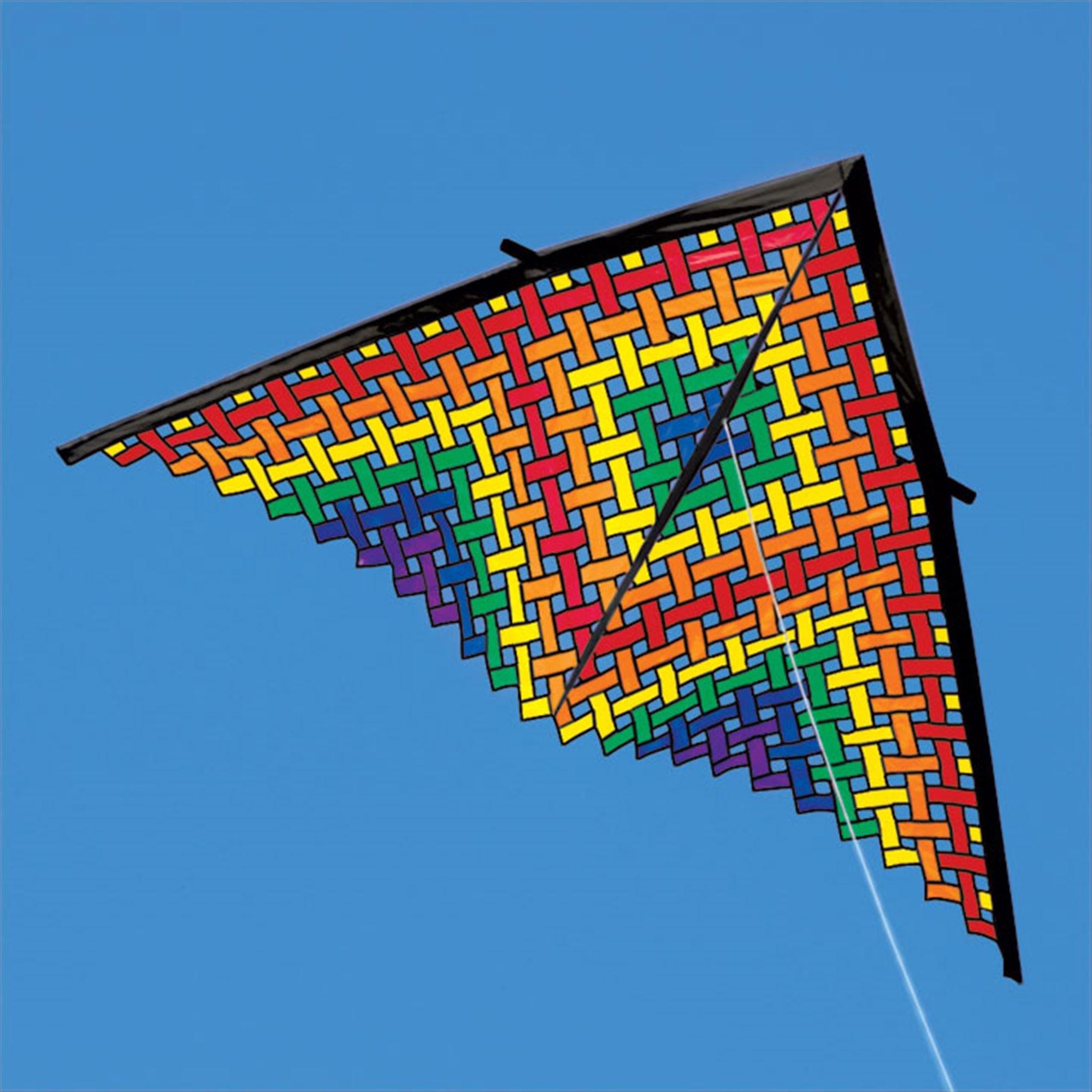 11ft Rainbow Mesh Delta Kite by Premier Kites (Image #1)