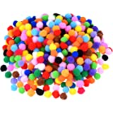 Blulu Pompoms for Craft Making and Hobby Supplies, 500 Pieces 0.5 Inch, Assorted Colors
