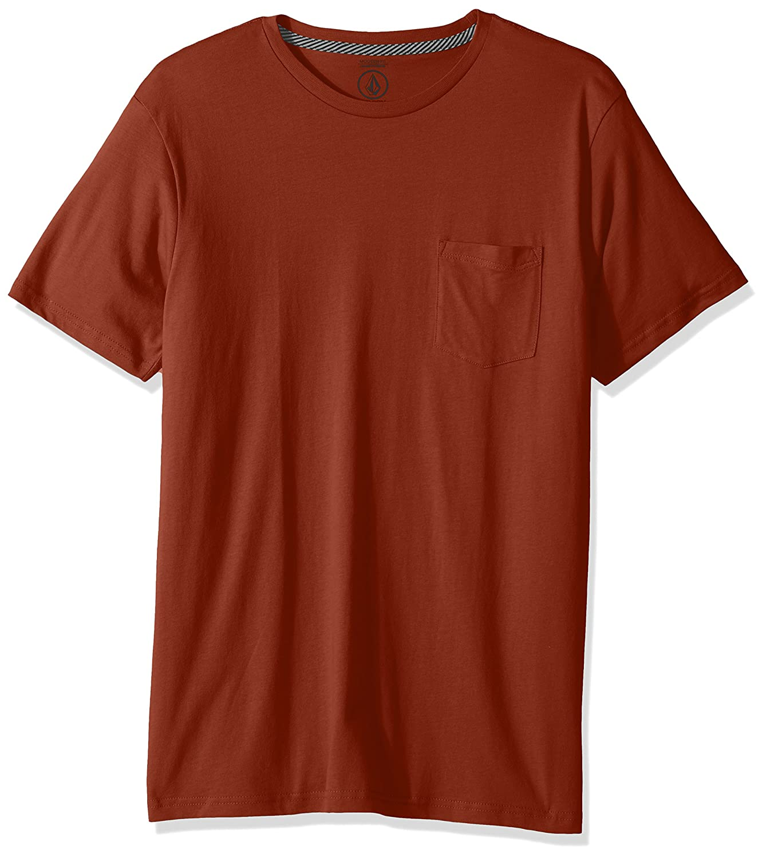 (ボルコム) VOLCOM メンズ 無地 半袖 Tシャツ (モダンFIT 採用) ポケット付き ポケT 【 A5011611/Solid Pocket SS Tee 】 B0713SN2X1 XL|Cop Cop XL