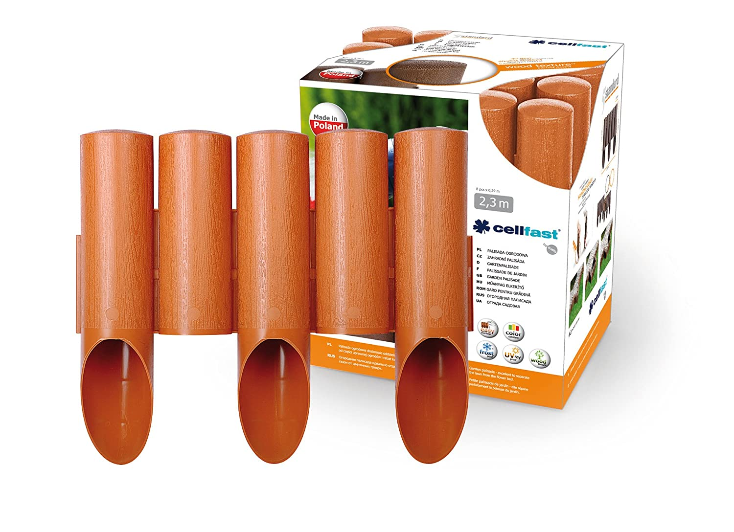 Cellfast Lawn Edging Picket Fencing, Brown, 59018288546990.21x 0.21x 0.1cm