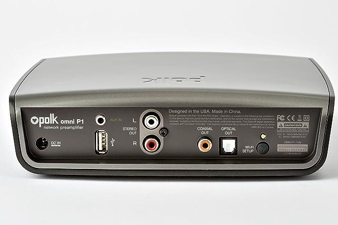 Polk Omni P1 Adaptador de música inalámbrico de Audio (DTS Play-Fi tecnología de múltiples Habitaciones) Gray: Amazon.es: Electrónica