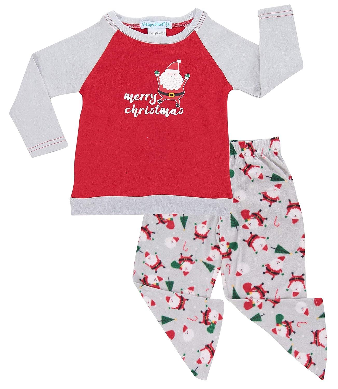 Amazon.com: SleepytimePjs Christmas Family Matching Fleece Santa ...