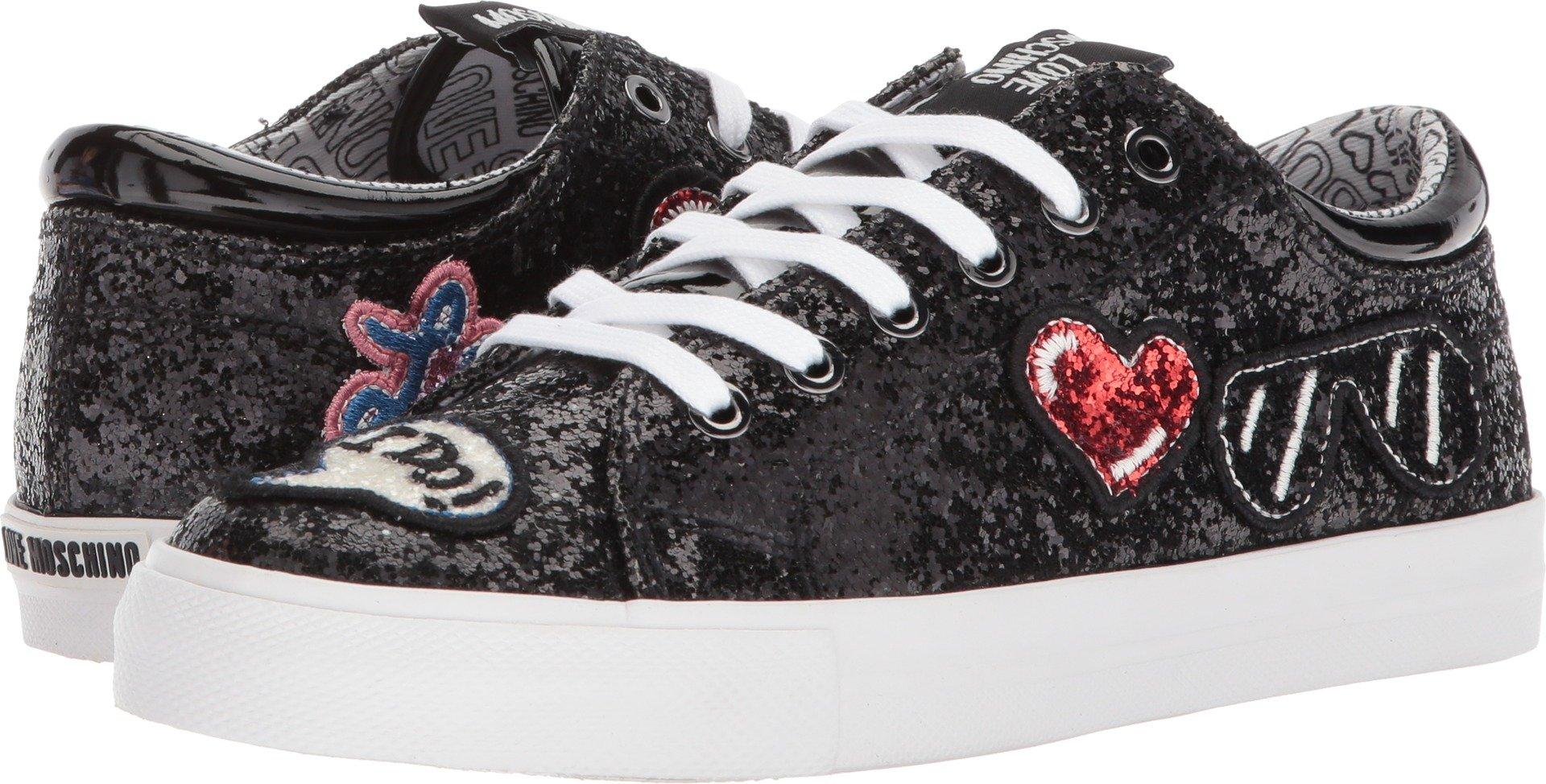Love Moschino Women's Sneaker w/Patches Fantasty Color Black 35 M EU