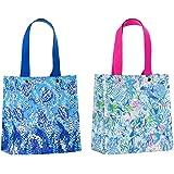 c4594a9af1b511 Lilly Pulitzer Reusable Market Shopper Bag Set of 2, Turtley Awesome & Lion  Around
