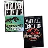 Michael Crichton Jurassic Park 2 Books Collection Pack Set (Jurassic Park, The Lost World)