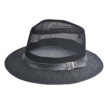 35a8d0cacf0e9 Rankei Women Spring Summer Hat Breathing Mesh Sun Cap Hollow Out Wide-Brim  Fedora Hats