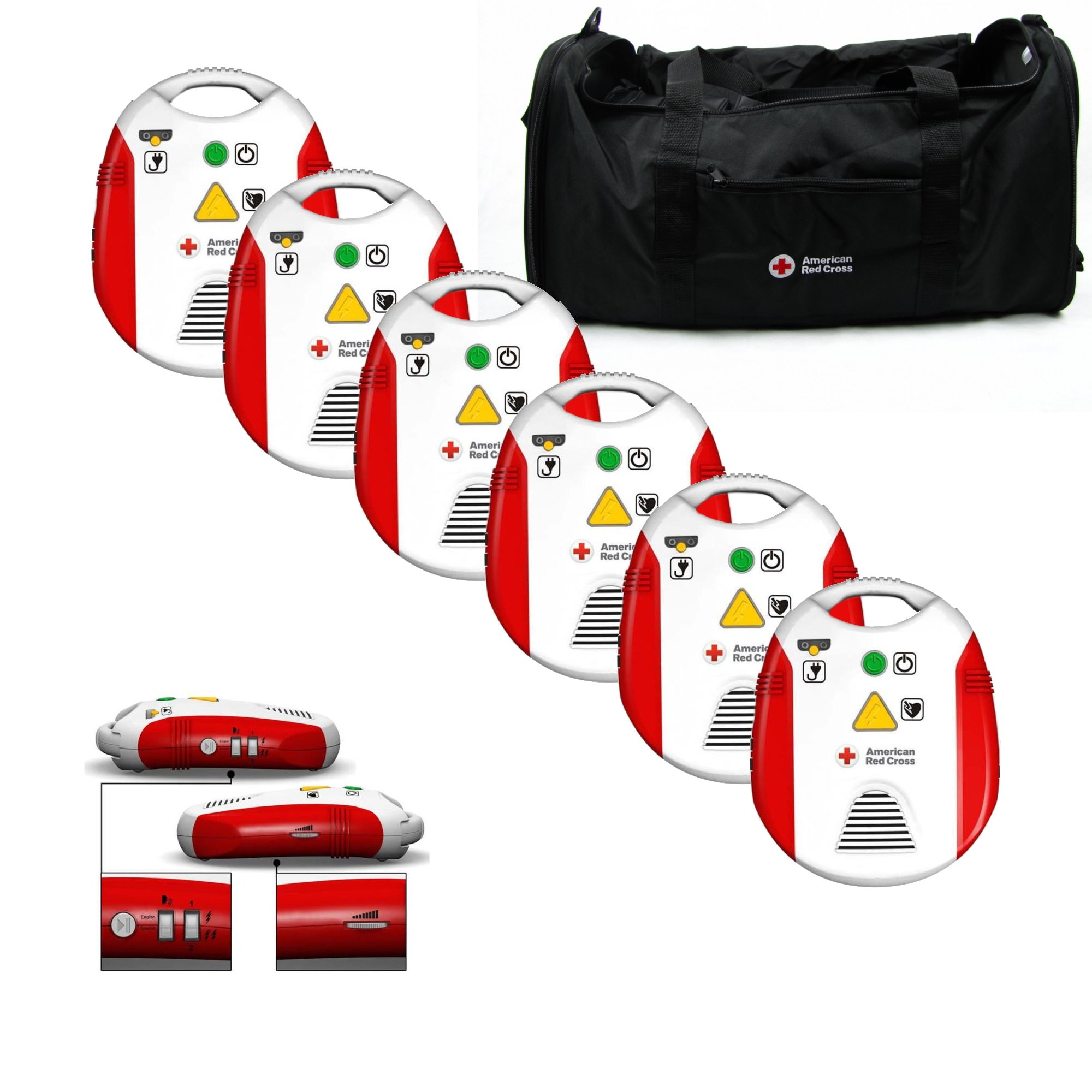 AED Trainer Sale (6-Pack) - Brand-New AED Trainers (CPR/AED Training Device) by American Red Cross