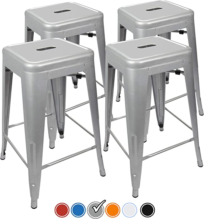 The Best Office Star Bristow Antique Metal Barstool 30