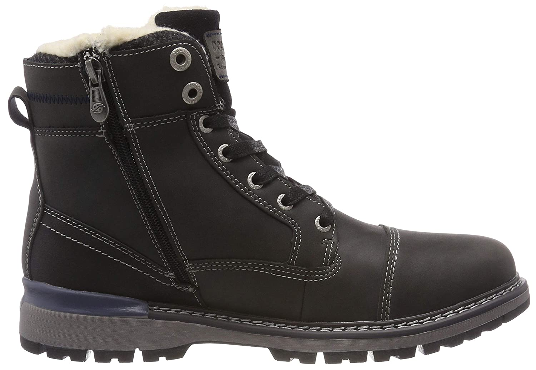 Dockers by Gerli Herren 43ad103 100) Combat Boots, Schwarz (Schwarz 100) 43ad103 3c19ab
