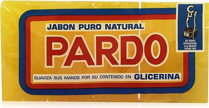 Pardo - Jabón Puro Natural - Glicerina - 3 x 250 g: Amazon.es: Belleza