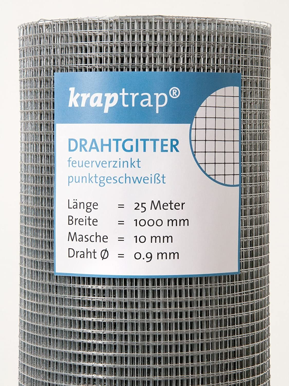 KrapTrap® Volierendraht, Drahtgitter, 10.6 mm Masche, 100 cm Breite ...