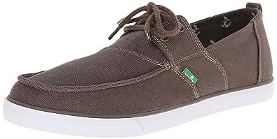 Sanuk Men's Offshore Boat Shoe, Brindle, ...
