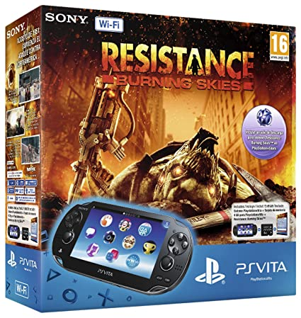 Ps Vita Wifi + Resistance: Burning Skies Voucher + 4Gb Ms: Amazon ...