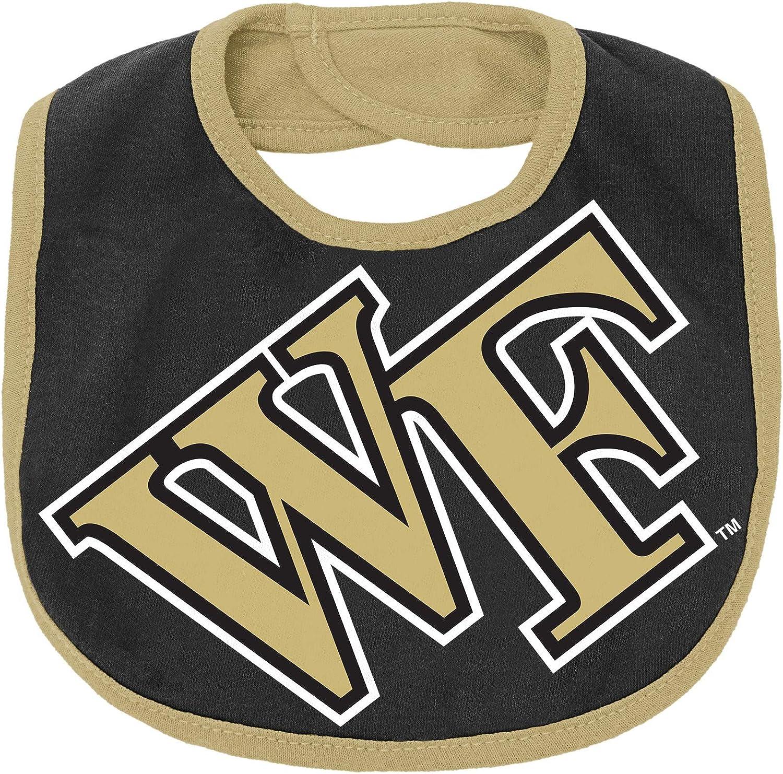 Wake Forest Demon Deacons 3-6 Months OuterStuff NCAA Newborn 50 Yard Dash Creeper Bib /& Booti Set