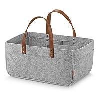 GAGAKU Extra Large Baby Diaper Caddy Organizer - Portable Nappy Storage Basket for...