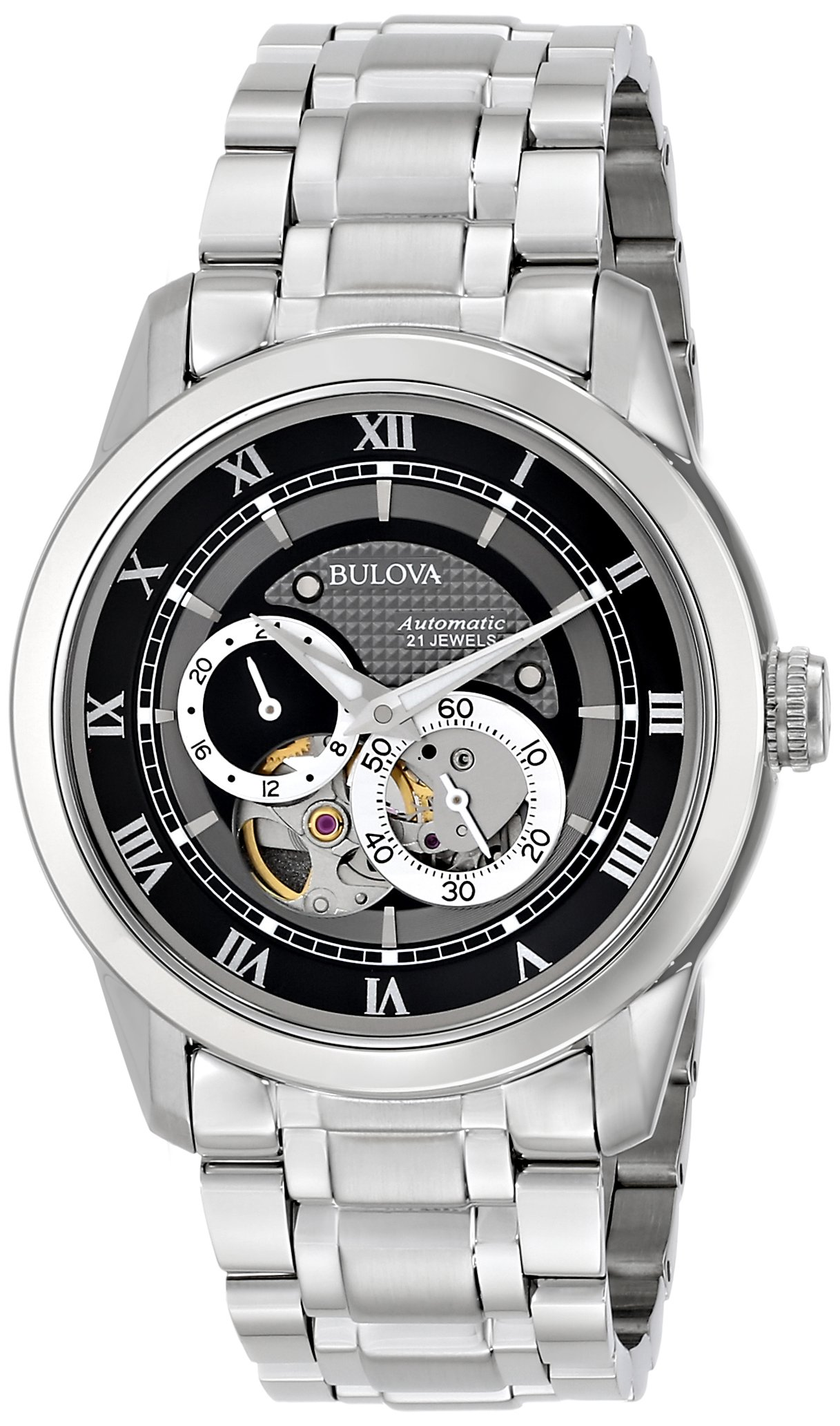 Bulova Men's 96A119 ''BVA'' Automatic Stainless Steel Watch with Link Bracelet