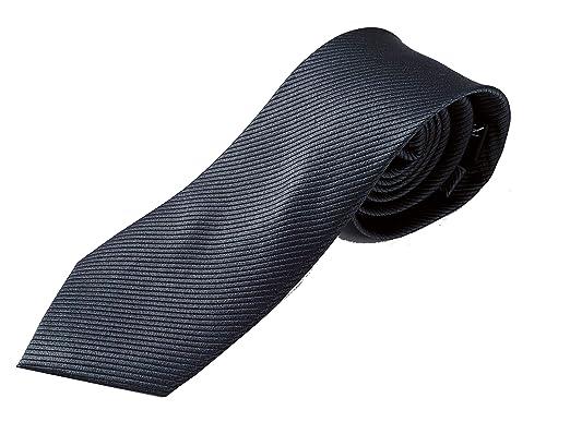 Corbatas de hombre - Corbatas de hombre gris antracita -100% seda ...
