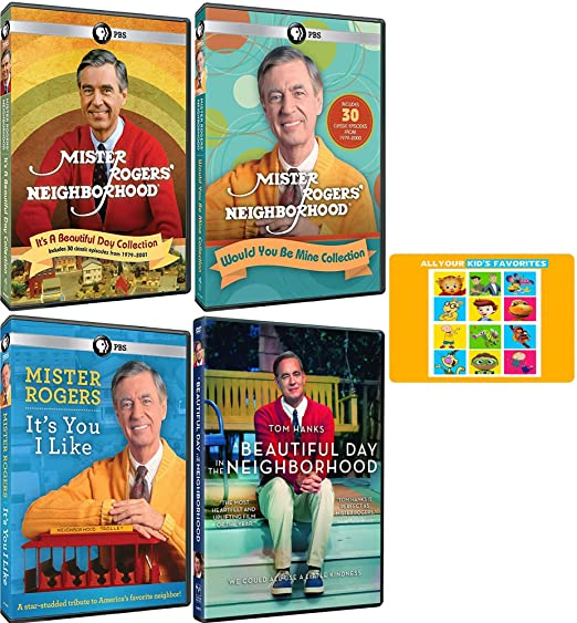 Amazon Com Mr Rogers A Beautiful Day In The Neighborhood Movie And Tv Series 60 Episodes And Tribute Dvd Collection With Bonus Art Card Fred Rogers Tom Hanks Movies Tv