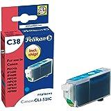 Pelikan C38 Cartouche compatible pour Canon PIXMA iP3600/iP4600/iP4600/iP4700/MP540/MP550/MP560/MP620/MP630/MP640/MP980/MX860 - 9ml Cyan
