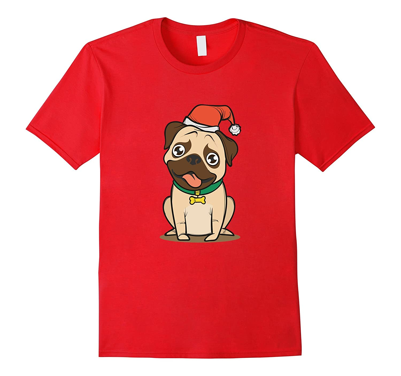Christmas Pug tshirt | Cute puppy dachshund pet-Rose