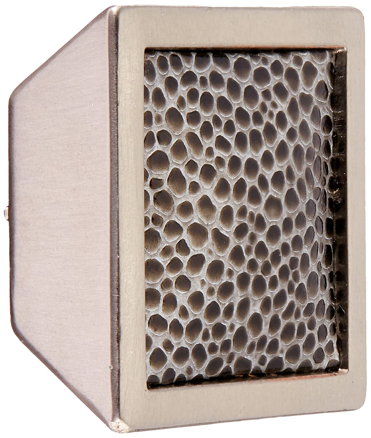Oil Rubbed Bronze and Sand Pebble Laurey 12297 Cabinet Hardware 1-5//8-Inch Square Knob